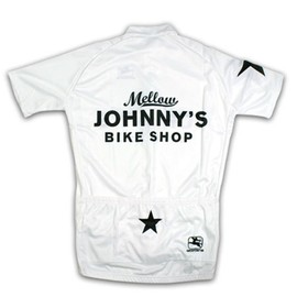 Mellow Johnny's Bike Shop - White Short Sleeve Cycling Jersey
