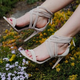 BURBERRY - Burberry Delabole Suede High-Heel Sandals