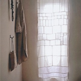 * - Pojagi-like curtain from Hand Made Home - Mark and Sally Bailey