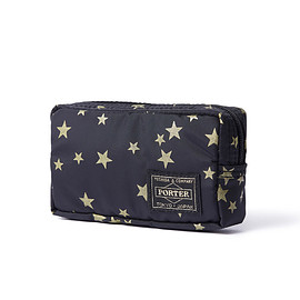 "HEAD PORTER - ""STELLAR"" CASE (S) BLACK/GOLD"