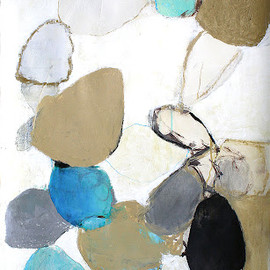 Ann Connelly - Pods [Shore II], 2012, ink, oil, oil crayon, & charcoal on paper
