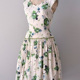 vintage 50s dress | Hedgerow dress