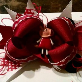 Luulla - peppa pig bow red