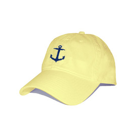 SMATHERS&BRANSON - Anchor Needlepoint Hat (Butter)