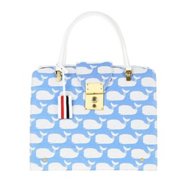 THOM BROWNE - Jacquard flap bag with whale pattern