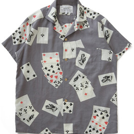 PEEL&LIFT - Playingcards Open Collared Shirt (grey)