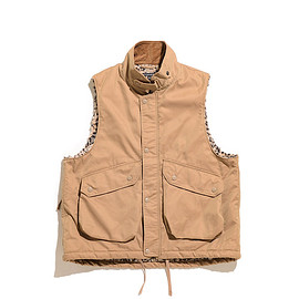 ENGINEERED GARMENTS - Field Vest-PC Iridescent Twill-Orange