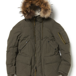 nonnative - TROOPER DOWN JACKET C/N WEATHER CLOTH