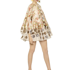DOLCE&GABBANA - SS2014 SILK ORGANZA FLOWERS AND COINS DRESS