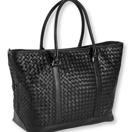 L.L.Bean - Woven Leather Town and Field Tote