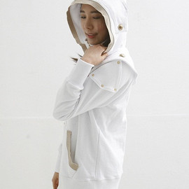 White Knight Medieval Armor Woman Hoodie(100% Handmade Wool) Made To Order