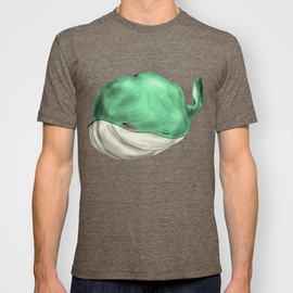 Society6(art:Ben Geiger) - Tubby Sketch Whale T-shirt