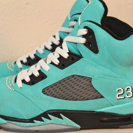 "NIKE - Air Jordan 5 Retro ""Tiffany"" Custom"