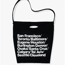 American Apparel - Cities Print Denim Oversized Tote