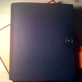 HERMES - leather cover