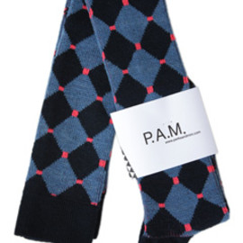P.A.M. - Diamante Socks-Long (navy/denim)