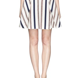 sacai luck - TWEED STRIPE FLARE SKIRT