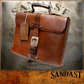 SANDAST - Theo Notebook Brown Leather Bag