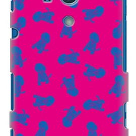 SECOND SKIN - Dogs ピンク design by REVOLUTION OF THE MIND / for  Xperia acro HD SO-03D/docomo