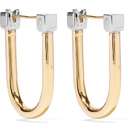 URiBE - Willie gold and rhodium-plated earrings