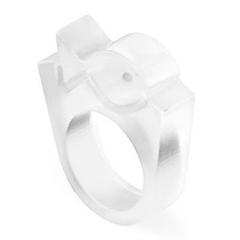 Pebeta Teta - Square Shape Ring, Fish
