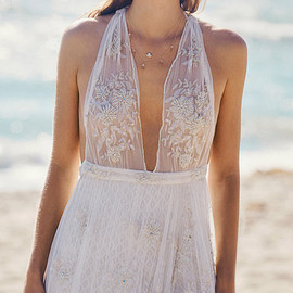 Free People - free people bridal 2015 fpeverafter carolyn s dream dress sleeveless sheer bodice lace wedding gown