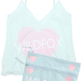 WILDFOX - WILDFOX LOVE HEART CAMI & CLUTCH SET
