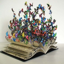"David Kracov - ""The Book of Life"" metal sculpture"