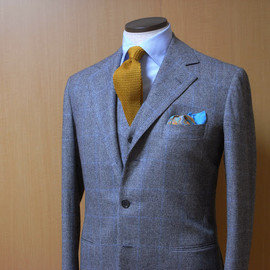 Liverano&Liverano - glen check,wool,three piece suit