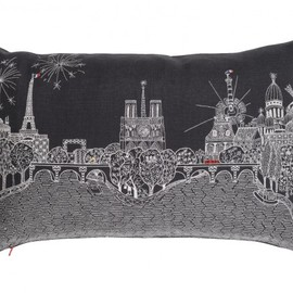 Charlene Mullen - Decorative cushion / pillow: Paris calling
