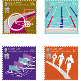 London 2012 Olympic Games - The Isle Of Man Stamp Collection By Paul Smith - rfsr-paul-qa66-1