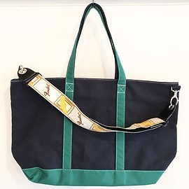 """tea., NOMAD - Strap Tote """"IVY"""" (Navy x Green)"""