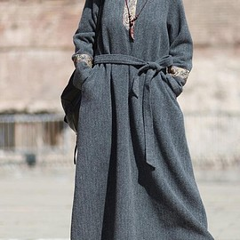 long Women dress, Oversized Loose Fitting robes, maternity Winter clothes