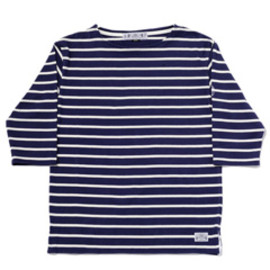 bal - Quater sleeve basque shirt  (navy)