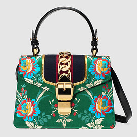 GUCCI - Sylvie floral jacquard mini bag