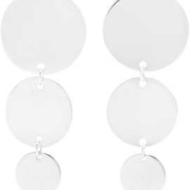 Saskia Diez - Paillettes silver earrings