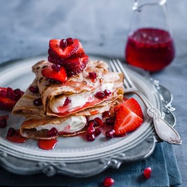 Crepes With Pomegranate