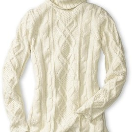 Eddie Bauer - Fisherman Cable Turtleneck Sweater