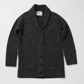 MHL. - BULKY WOOL LINEN LONG CARDIGAN