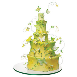 Yellow Butterflies Cake