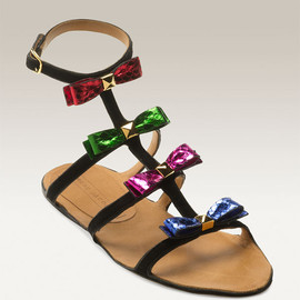 MARC JACOBS - Marc Jacobs Multicolor Bow Gladiator Sandal