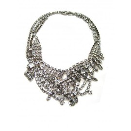 Tom Binns - SMALL WHITE TANGLED CRYSTAL NECKLACE