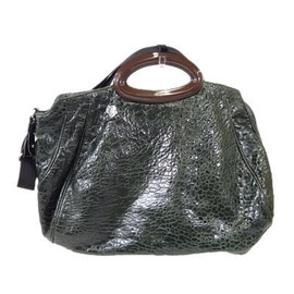 MARNI - green leather bag 2009