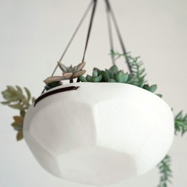 Pigeon ToeCeramics - Faceted Hanging Tray MADE TO ORDER