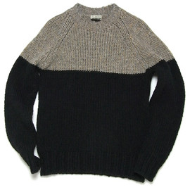 CLOSED - 2-Tone Knit Pullover