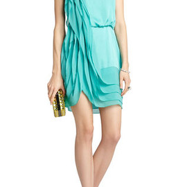 BCBG MAXAZRIA - Lydia Silk Ruffle Dress