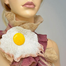 Bacon & Egg Scarf