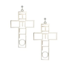 asos - Cross Hello Earrings