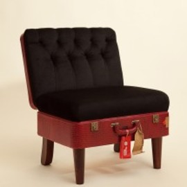 Recreate - Suitcase Chair – Red Skinny