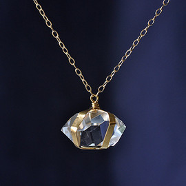 SOURCE - Large Herkimer Diamond Necklace